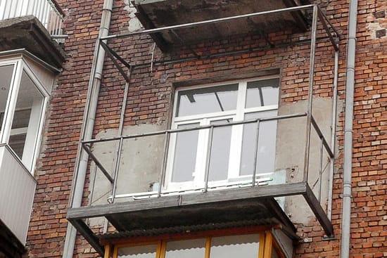 Металлический каркас выносного балкона