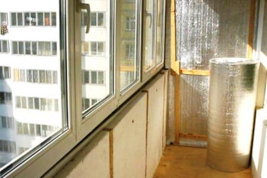 Балкон утепленный изнутри