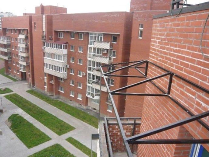 Каркас независимой крыши для балкона