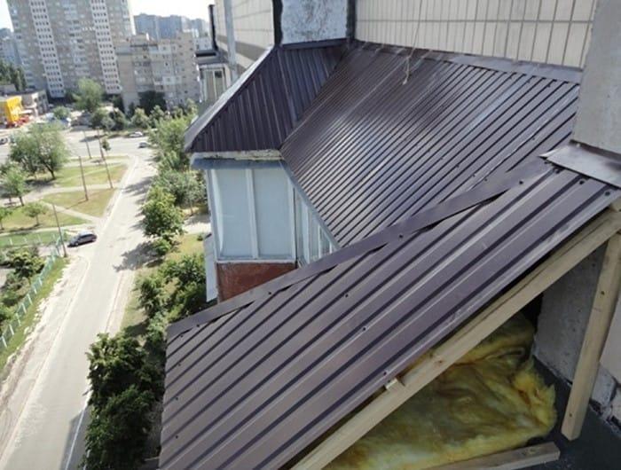 Как утеплить крышу балкона