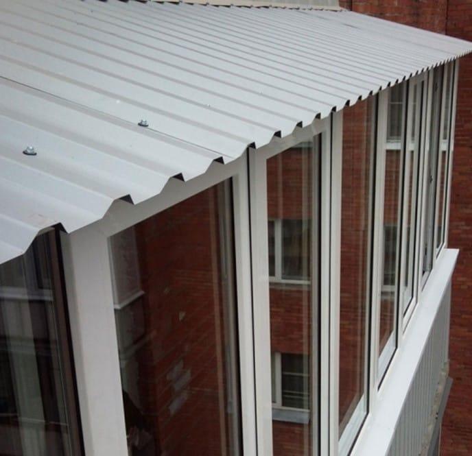 крыша для балкона из профнастила