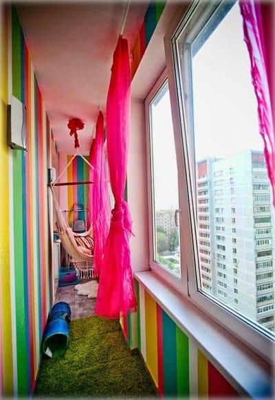 Вариант для детской на балконе