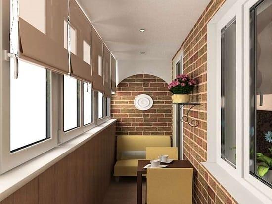 Классический дизайн балкона