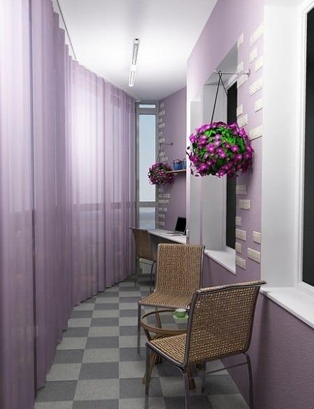 Дизайн балкона в стиле хай-тек