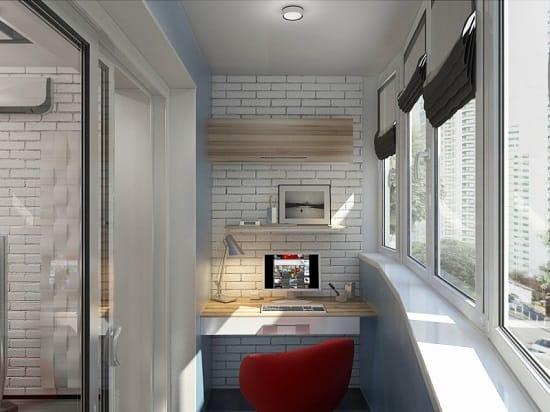Пример оформления балкона в стилей хай-тек