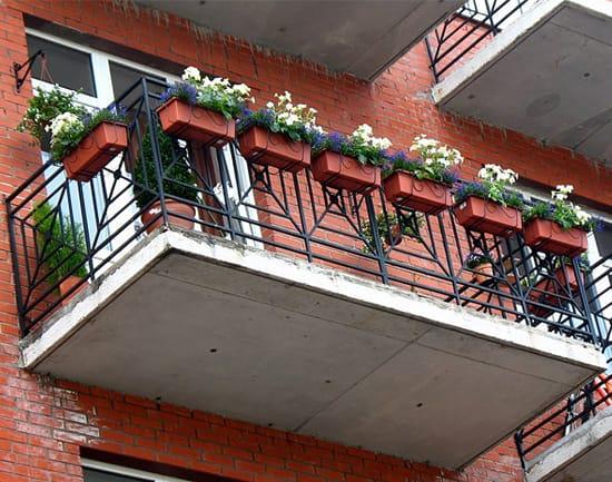 Пример оформления балкона цветами