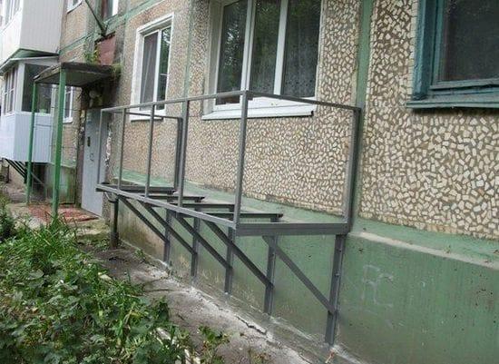 Каркас навесного балкона