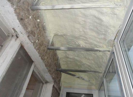 Утепление крыши балкона пенополиуретаном