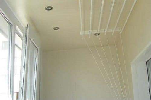 Потолок на балконе из гипсокартона
