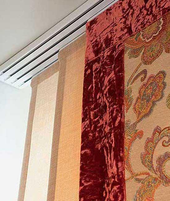 Пример японских штор для балкона и лоджии