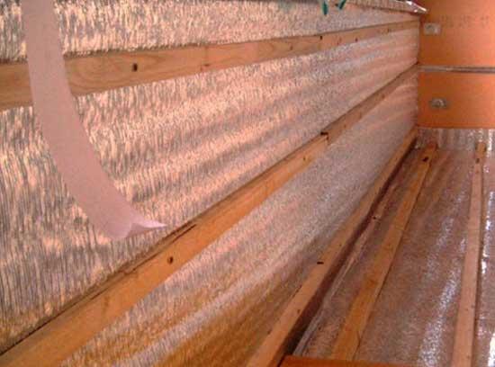 Утеплитель при обшивке балкона