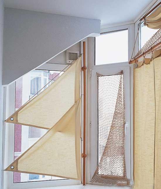 Оригинальные шторы на балкон