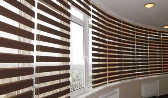 Рулонные шторы на балкон