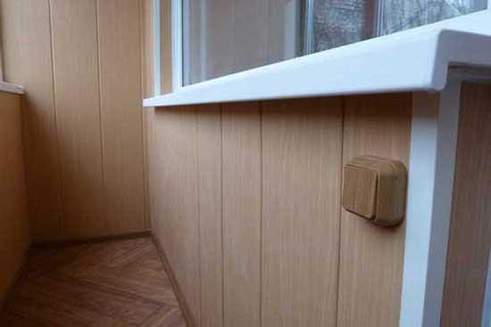 МДФ обшивка балкона