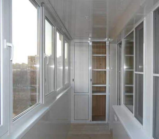 Теплое остекление лоджии окнами ПВХ