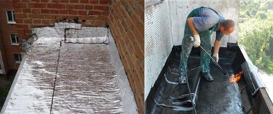 Гидроизоляция крыши лоджии