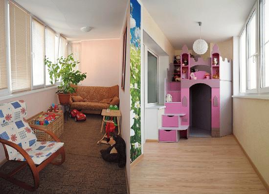 Переделка лоджии в детскую комнату
