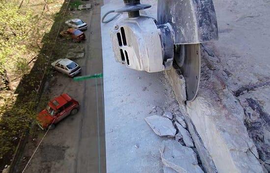 Зачистка бетона на лоджии
