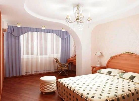 Совмещение лоджии со спальней