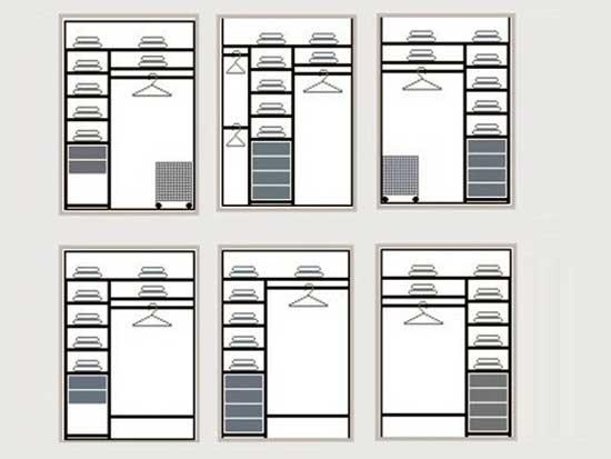Примеры встроенных шкафов для лоджии