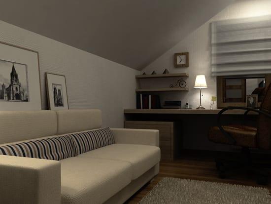 Уютный кабинет на мансарде