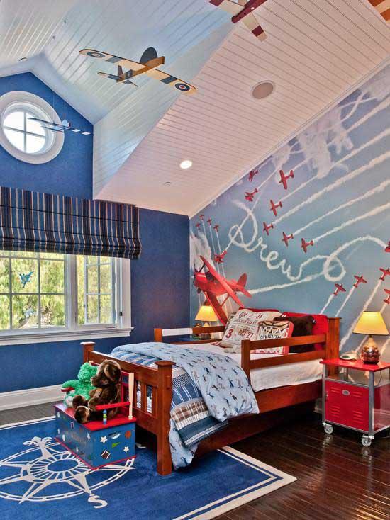 Детская комната мальчика в мансарде