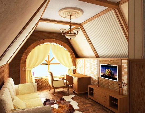 Маленькая гостиная на мансарде