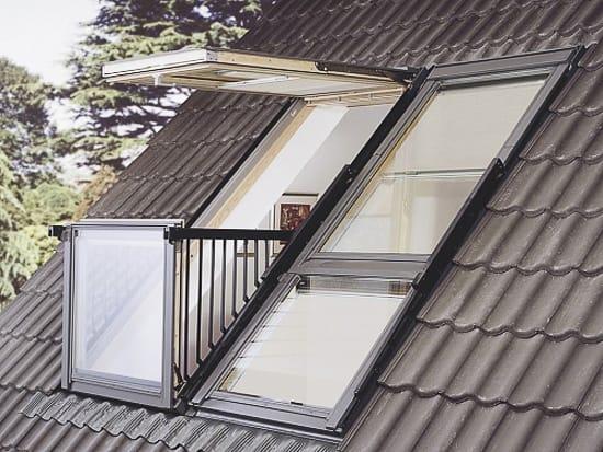 Мансардное окно-балкон