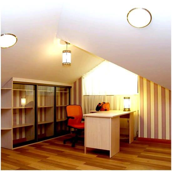 Освещение кабинета на мансарде
