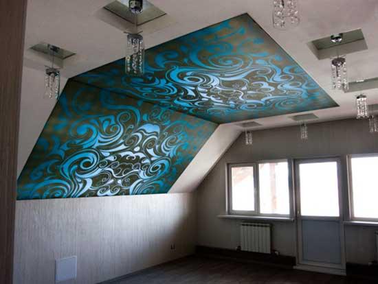 Потолок мансарды в восточном стиле