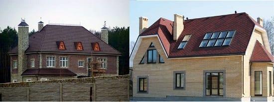 Вальмовая и полувальмовая мансардные крыши