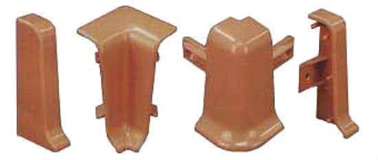 Комплектующие для плинтуса из пластика