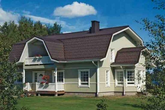 Ломаная конструкция мансардной крыши