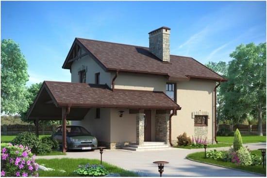 Дом с полумансардной крышей