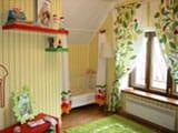 Обустройство детской комнаты на мансарде с нишей