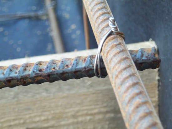 Вязка арматуры для бетонного крыльца