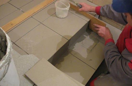 Облицовка бетонного крыльца плиткой