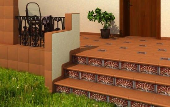 Плитка для отделки бетонного крыльца