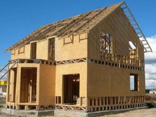 Каркасный дом с крыльцом