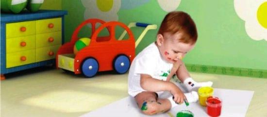 Цветной плинтус для комнаты ребенка