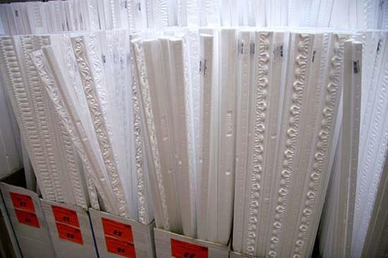 Стандартная длина потолочного плинтуса из пенопласта