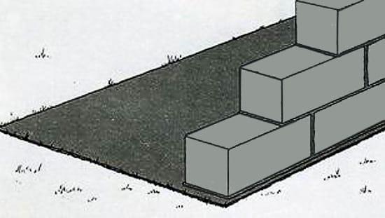 Укладка парапета крыльца из блоков