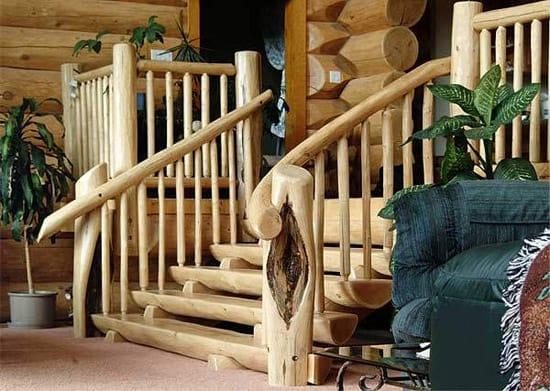Деревянное крыльцо в стиле кантри