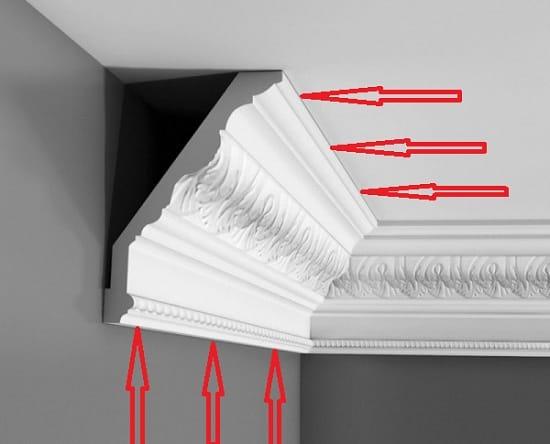 Снятие потолочного плинтуса