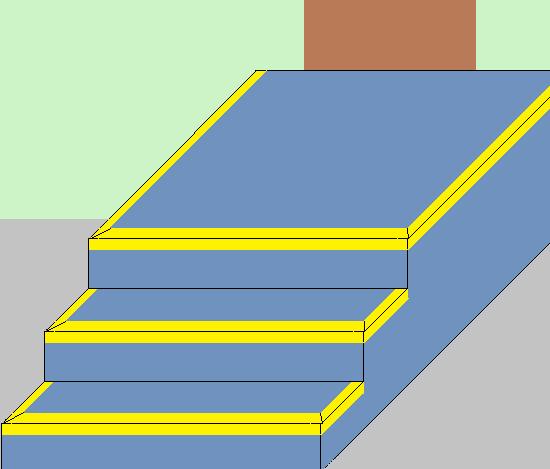 Установка уголков на ступени бетонного крыльца