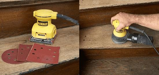 Зачистка деревянных ступеней крыльца от краски