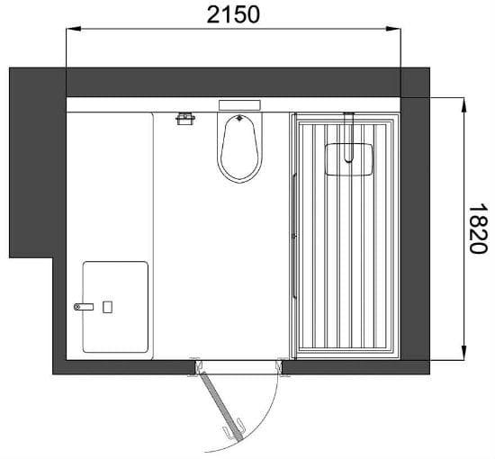 Размещение сантехники в санузле площадью 4 кв метра