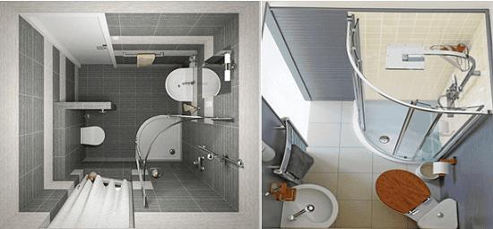 Дизайн санузла квадратной формы в хрущевке