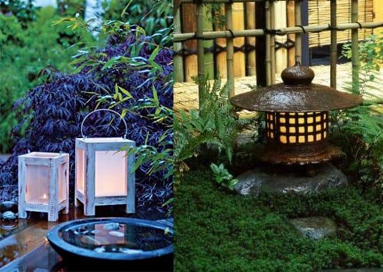 Садовые фонари для беседки в японском стиле