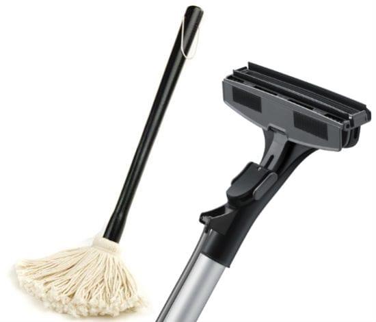 Швабра и насадка на пылесос для уборки паркета